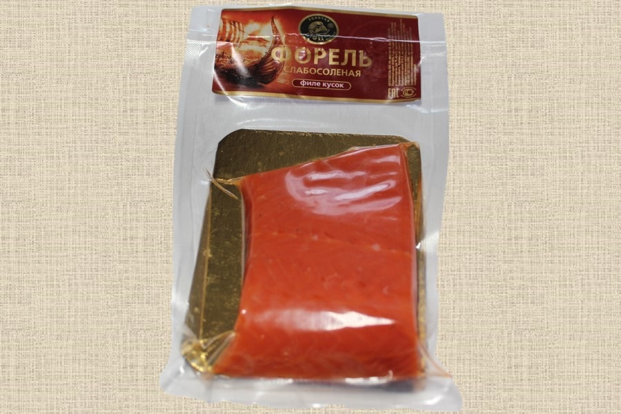 Форель малосолёная филе кусок, пресервы 150г
