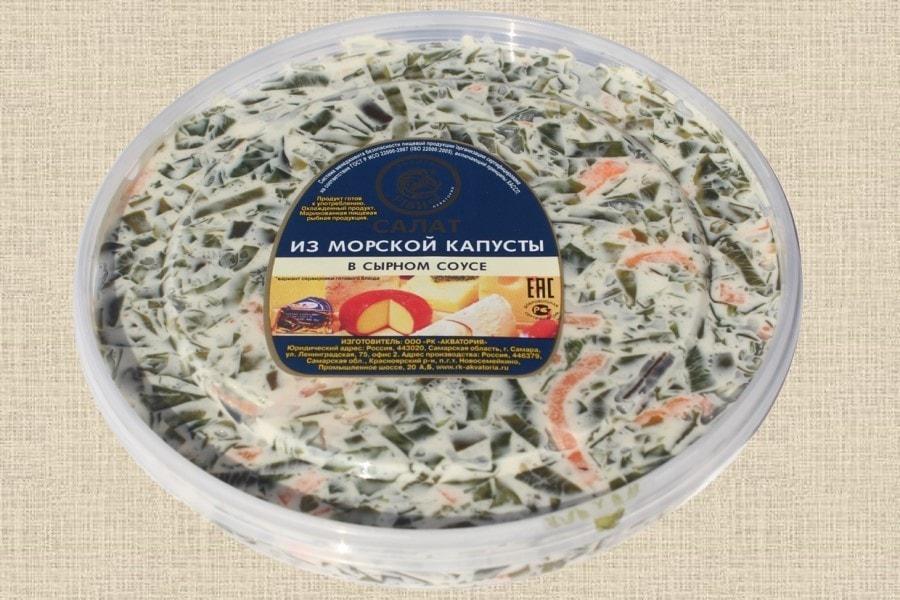 Морская капуста в сырном соусе, пресервы 180г