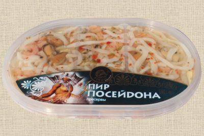 """Ассорти из морепродуктов """"Пир Посейдона"""" пресервы 190г"""